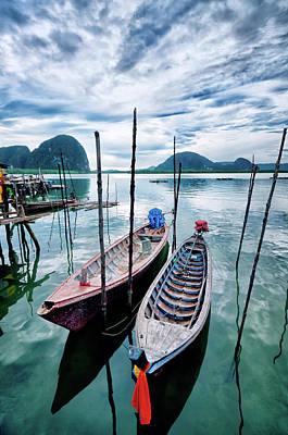 Longtail Wall Art - Photograph - Longtail Wooden Fishing Boat In Phuket by Aleksandargeorgiev