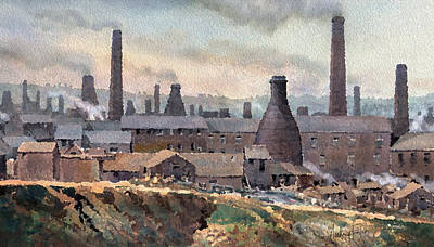 Longton Pot Works Art Print by Anthony Forster