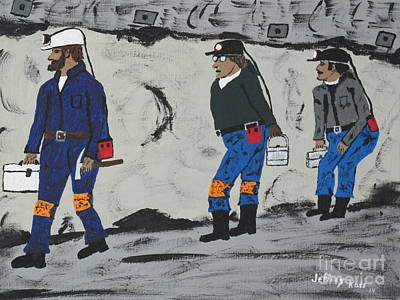 Lungs Painting -  Coal Miners  Working by Jeffrey Koss
