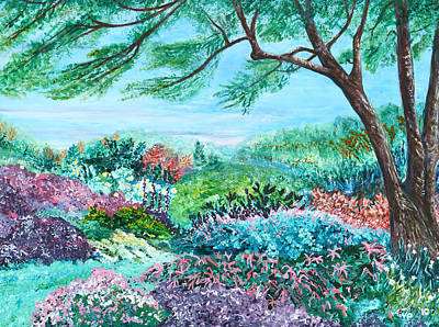 Longwood Gardens Painting - Longwood Gardens by Aine Khell