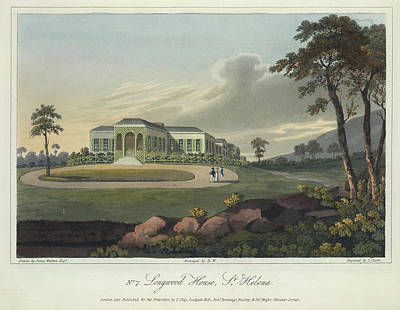 St Helena Photograph - Longwood House by British Library