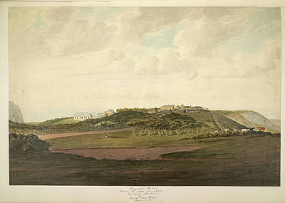 St Helena Photograph - Longwood Plateau by British Library