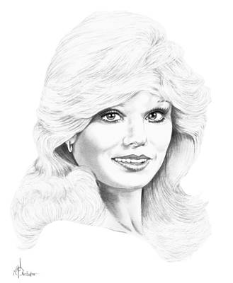 Famous People Drawing - Lonnie Anderson by Murphy Elliott