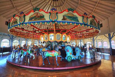 Loof Hippodrome, Carousel With 45 Hand Art Print