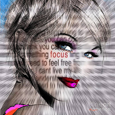 Portrait Digital Art - Look At Me  by Angie Braun
