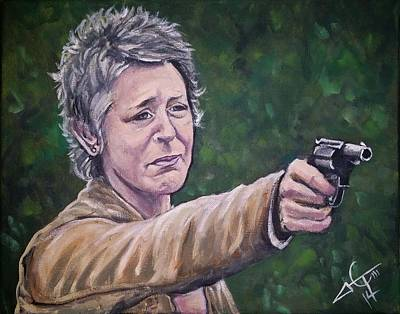 Walking Dead Painting - Look At The Flowers by Tom Carlton