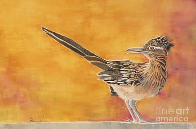 Roadrunner Painting - Look Both Ways by Catalina Rankin