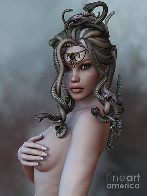 Gorgon Digital Art - Look Deep Within by Alexander Butler
