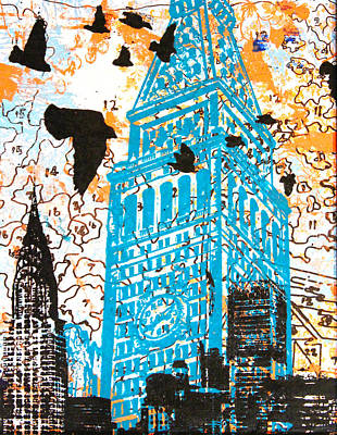 Chrysler Building Mixed Media - Look Inside by 624713art
