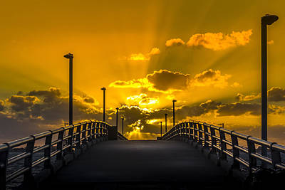 Habor Photograph - Look Into The Rays by Marvin Spates