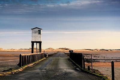 Look-out Tower By Bridge, Holy Island Art Print by John Short