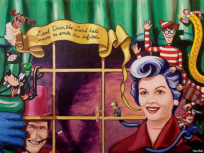 Ronald Mcdonald Painting - Look Smart And Carry An Umbrella by Norman Twisted