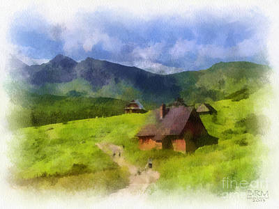 Look To The Hills Art Print by Barbara R MacPhail