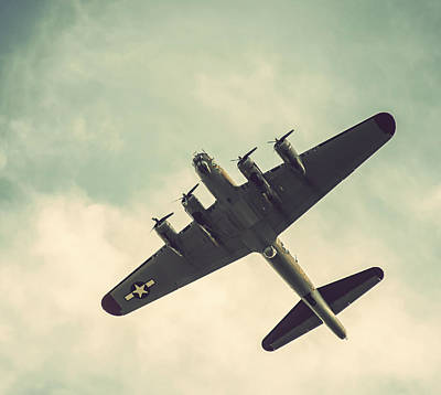 Photograph - Look Up Vintage B-17 Flying Fortress by Terry DeLuco