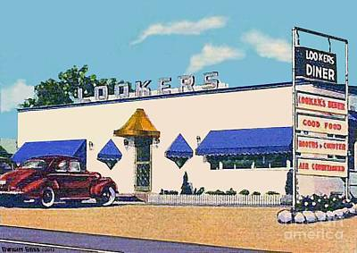 Lookers Diner In Rutland Vt Around 1940 Art Print