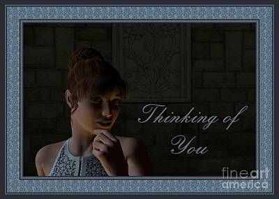 Digital Art - Looking And Thinking Of You by JH Designs