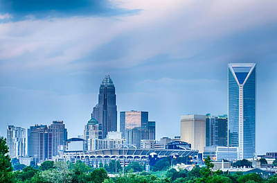 Modern Sophistication Beaches And Waves - Looking At Charlotte The Queen City Financial District From A Di by Alex Grichenko