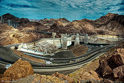 Photograph - Pat Tillman Bridge And Hoover Dam by Bob and Nadine Johnston