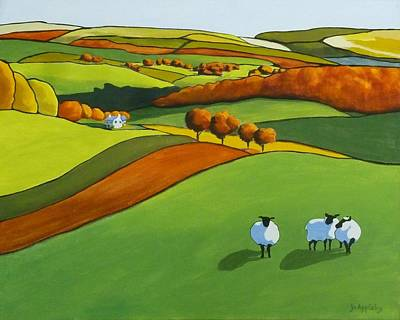 Painting - Looking At Ewe by Jo Appleby