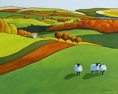 Looking At Ewe Art Print by Jo Appleby