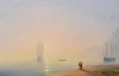 Fog Painting - Looking At The Black Sea by Ivan Konstantinovich Aivazovsky