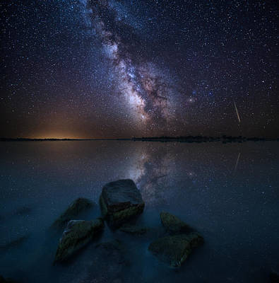 Meteor Photograph - Looking At The Stars by Aaron J Groen