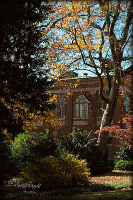 Photograph - Looking Back At The Martin Chemistry Lab - Davidson College by Paulette B Wright