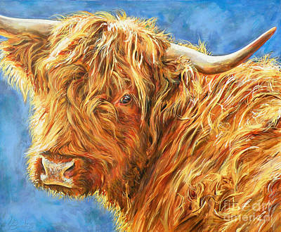 Scottish Highlands Painting - Looking Back In Sunlight by Leigh Banks