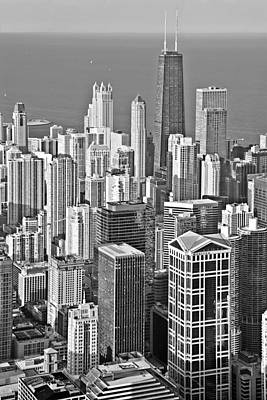 Famous Buildings Photograph - Looking Down At Beautiful Chicago by Christine Till