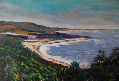 Painting - Looking Down On Half Moon Bay by Carolyn Donnell