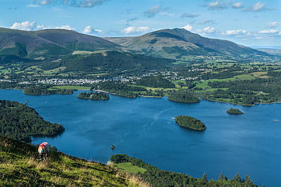 Photograph - Looking Down On Keswick by Stuart Gennery