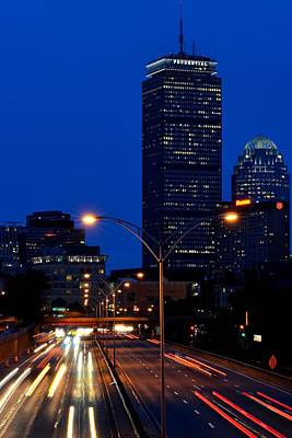 Looking Down The Mass Pike From The Brookline Ave Bridge Art Print