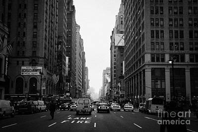Looking Down The Middle Of Seventh Avenue Outside Madison Square Garden Art Print by Joe Fox