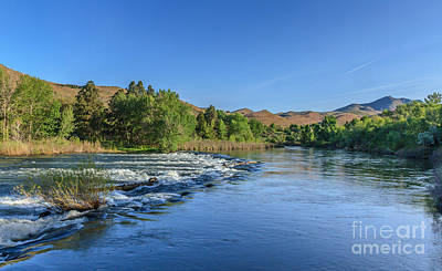Looking Down The Payette River Print by Robert Bales
