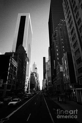 looking down West 57th Street midtown new york city Art Print by Joe Fox