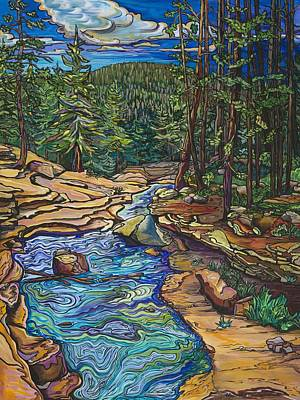 Painting - Looking Downstream by Alexandria Winslow