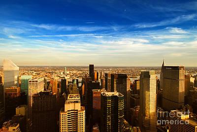 Looking East Manhattan Chrysler Building Art Print by Sabine Jacobs