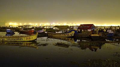 Photograph - Searching For A Boat - Kumbhla Mela - Allahabad India by Kim Bemis
