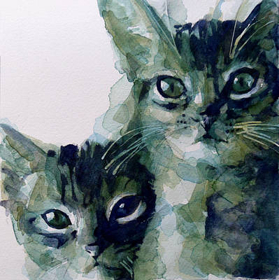 Kitten Painting - Looking For A Home by Paul Lovering
