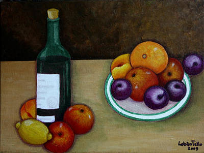 Naturaleza Muerta Painting - Looking For Cezanne by Madalena Lobao-Tello