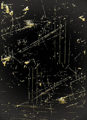 Digital Art - Looking For Gold - Gold Nuggets On Black IIi by Serge Averbukh