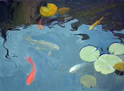 Aquatic Plants Painting - Looking For Handouts by Armand Cabrera