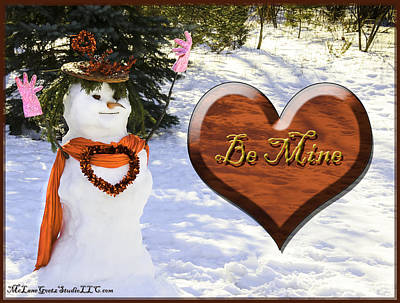 Crystal Photograph - Looking For Love Snowlady Style by LeeAnn McLaneGoetz McLaneGoetzStudioLLCcom