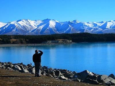 Photograph - Looking For Mount Cook by Nancy Pauling