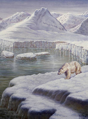 Indian Fine Art Painting - Looking For Salmon by Gregory Perillo
