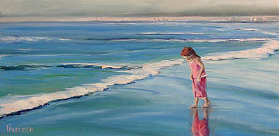 Painting - Looking For Seashells by Dianna Poindexter