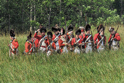 Revolutionary Wars Re-enactment Photograph - Looking For Support by William Coffey