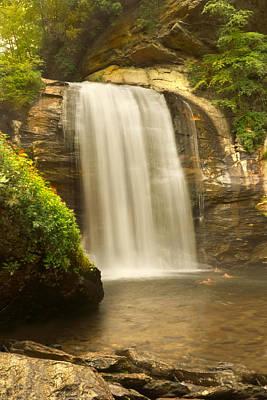 Transylvania Digital Art - Looking Glass Falls 2 - North Carolina by Mike McGlothlen