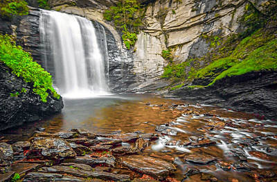 Looking Glass Falls Art Print by Marion Johnson
