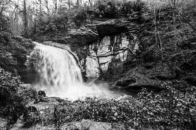 Photograph - Looking Glass Falls Monochrome by Randy Scherkenbach